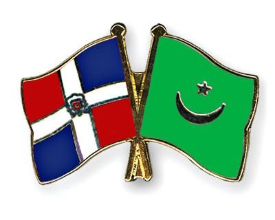 Crossed Flag Pins Dominican-Republic-Mauritania