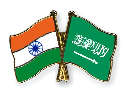 Special Offer Crossed Flag Pins India-Saudi-Arabia