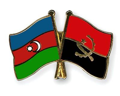 Crossed Flag Pins Azerbaijan-Angola