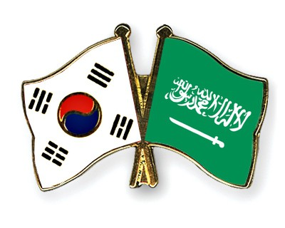 Special Offer Crossed Flag Pins South-Korea-Saudi-Arabia