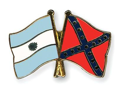 Crossed Flag Pins Argentina-Confederate-battle