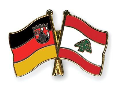 Crossed Flag Pins Rhineland-Palatinate-Lebanon