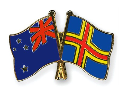 Crossed Flag Pins New-Zealand-Aland