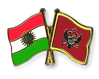 Crossed Flag Pins Kurdistan-Montenegro