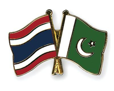 Crossed Flag Pins Thailand-Pakistan