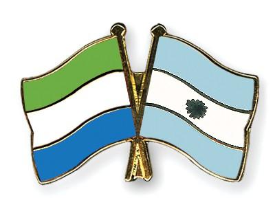 Crossed Flag Pins Sierra-Leone-Argentina