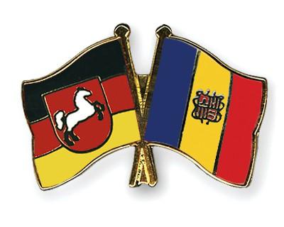 Crossed Flag Pins Lower-Saxony-Andorra