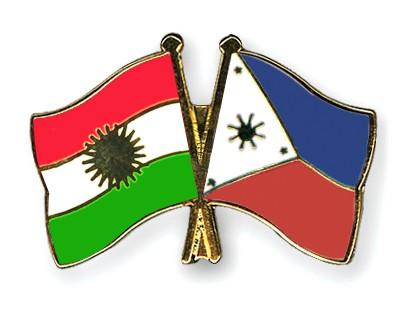 Crossed Flag Pins Kurdistan-Philippines