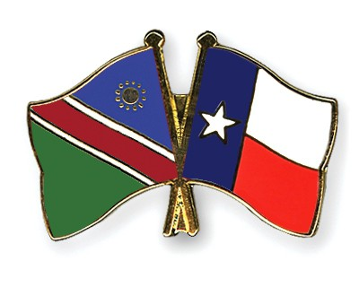 Crossed Flag Pins Namibia-Texas