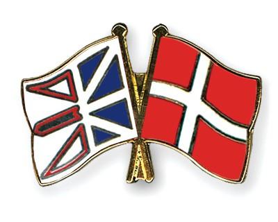 Crossed Flag Pins Newfoundland-and-Labrador-Denmark