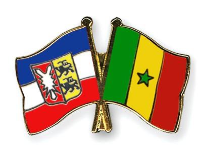 Crossed Flag Pins Schleswig-Holstein-Senegal