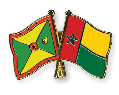 Crossed Flag Pins Grenada-Guinea-Bissau