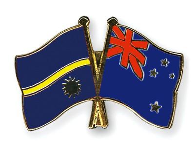 Crossed Flag Pins Nauru-New-Zealand