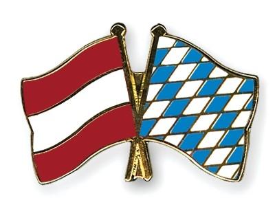 Special Offer Crossed Flag Pins Austria-Bavaria