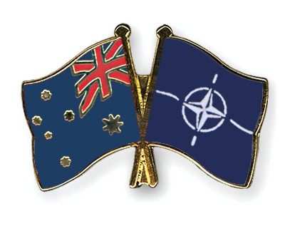 Special Offer Crossed Flag Pins Australia-NATO