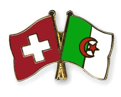 Crossed Flag Pins Switzerland-Algeria