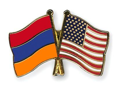 Crossed Flag Pins Armenia-USA