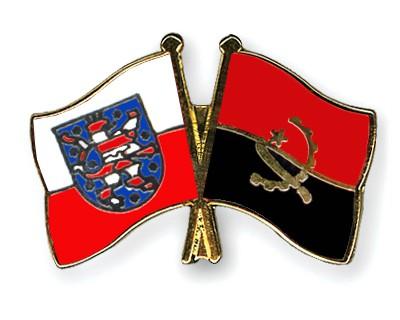 Crossed Flag Pins Thuringia-Angola