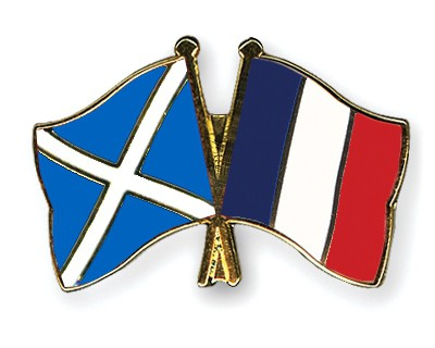 Special Offer Crossed Flag Pins Scotland-France