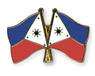Crossed Flag Pins Philippines-Philippines