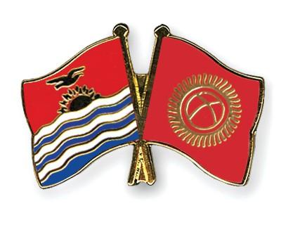 Crossed Flag Pins Kiribati-Kyrgyzstan