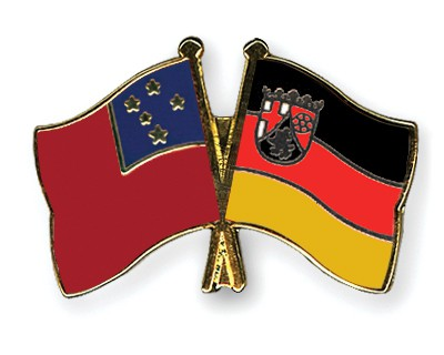 Crossed Flag Pins Samoa-Rhineland-Palatinate