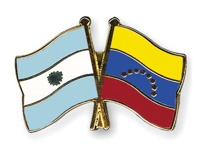 Crossed Flag Pins Argentina-Venezuela