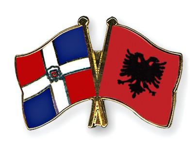Crossed Flag Pins Dominican-Republic-Albania