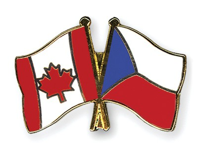 Special Offer Crossed Flag Pins Canada-Czech-Republic