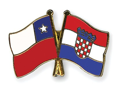 Special Offer Crossed Flag Pins Chile-Croatia