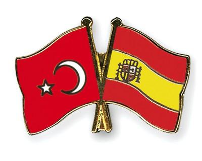 Crossed Flag Pins Turkey-Spain