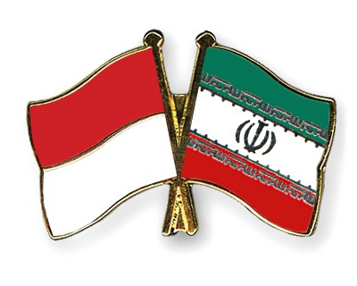 Crossed Flag Pins Indonesia-Iran