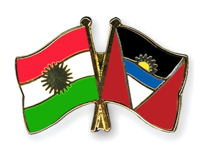 Crossed Flag Pins Kurdistan-Antigua-and-Barbuda
