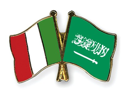 Special Offer Crossed Flag Pins Italy-Saudi-Arabia