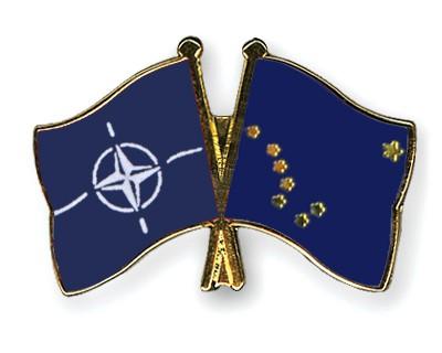Crossed Flag Pins NATO-Alaska