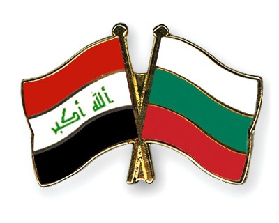 Crossed Flag Pins Iraq-Bulgaria