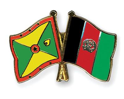 Crossed Flag Pins Grenada-Afghanistan