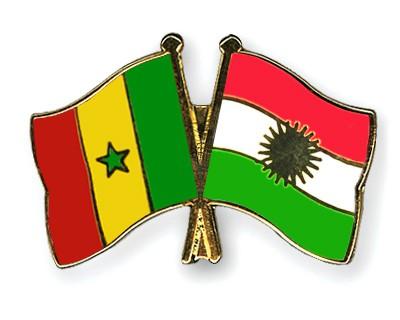 Crossed Flag Pins Senegal-Kurdistan