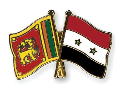 Crossed Flag Pins Sri-Lanka-Syria