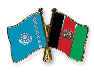 Crossed Flag Pins Kazakhstan-Afghanistan