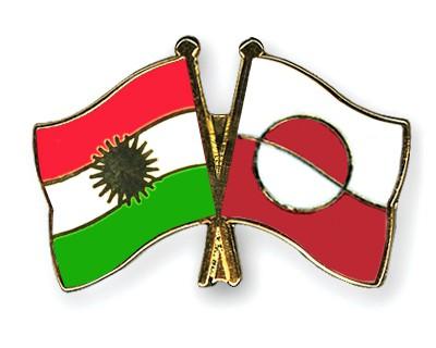 Crossed Flag Pins Kurdistan-Greenland