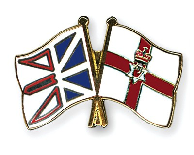 Crossed Flag Pins Newfoundland-and-Labrador-Northern-Ireland