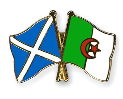 Crossed Flag Pins Scotland-Algeria