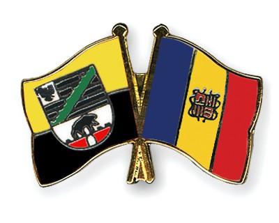 Crossed Flag Pins Saxony-Anhalt-Andorra