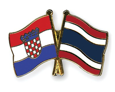 Crossed Flag Pins Croatia-Thailand