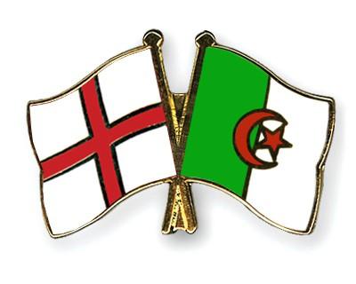 Crossed Flag Pins England-Algeria
