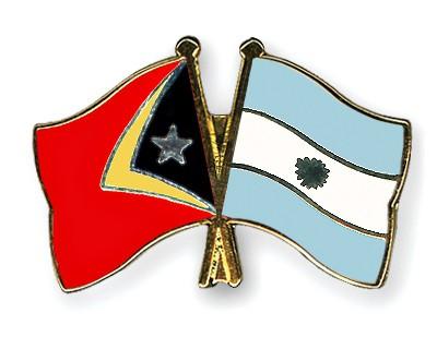 Crossed Flag Pins Timor-Leste-Argentina