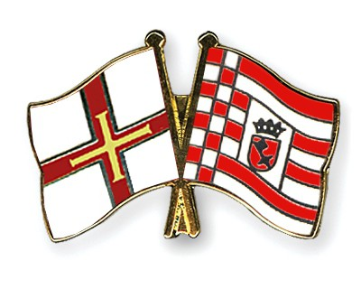 Crossed Flag Pins Guernsey-Bremen