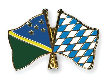 Crossed Flag Pins Solomon-Islands-Bavaria