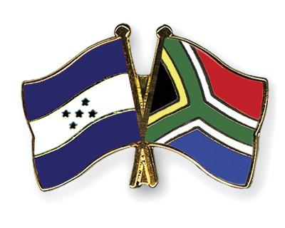 Crossed Flag Pins Honduras-South-Africa